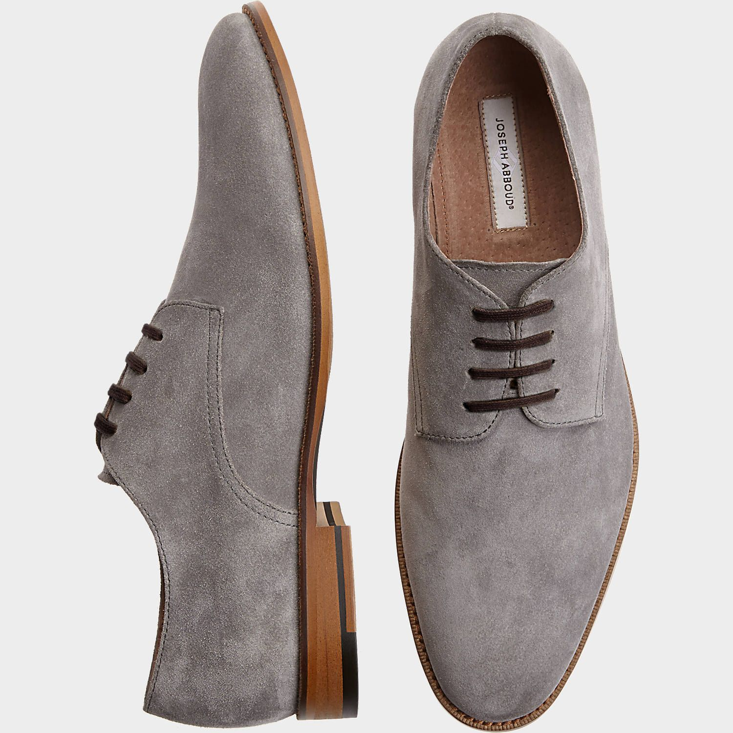 Joseph Abboud Hayes Gray Suede Oxford
