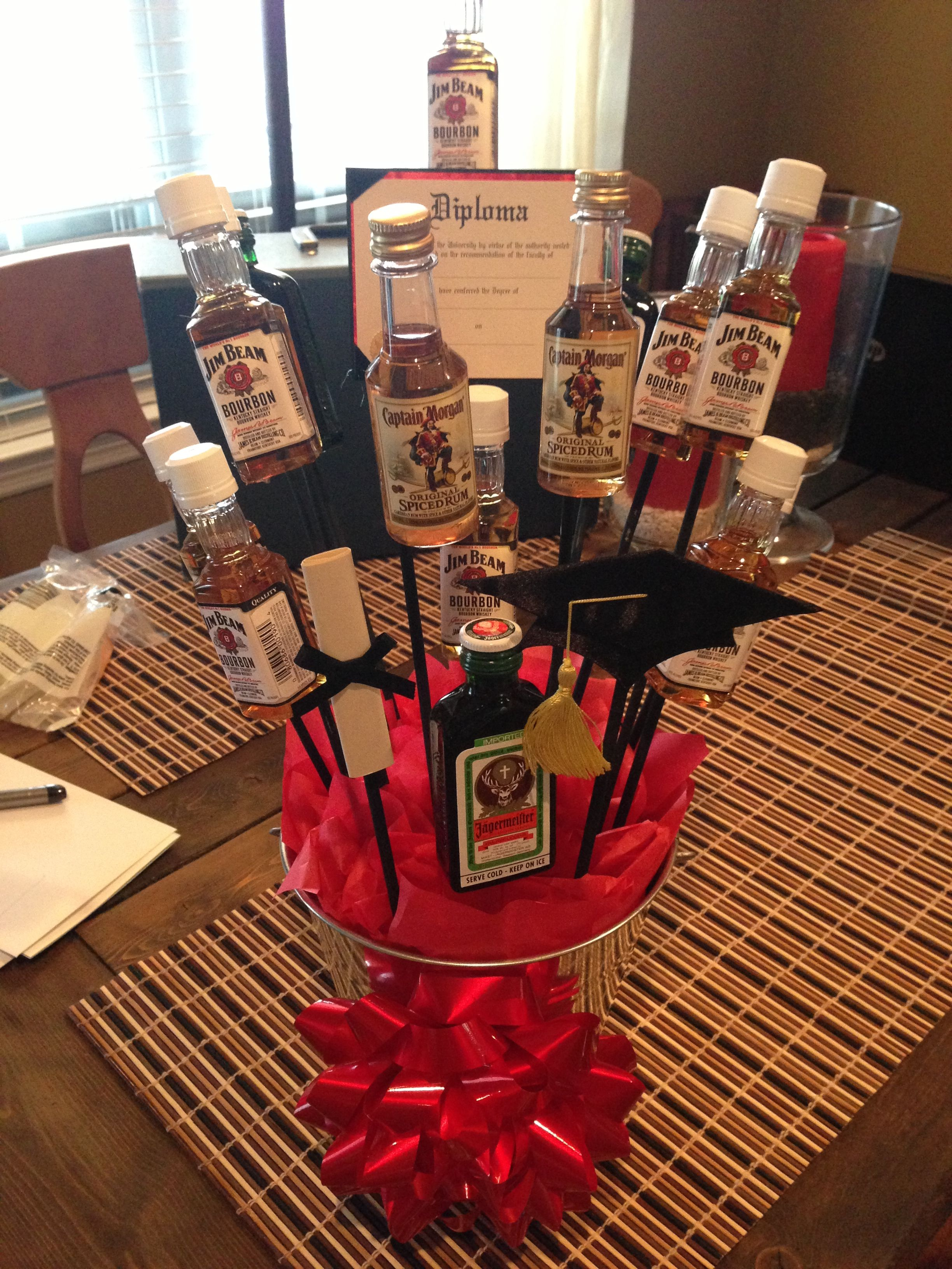 Alcohol bouquet for a guy graduating college | My Own ...