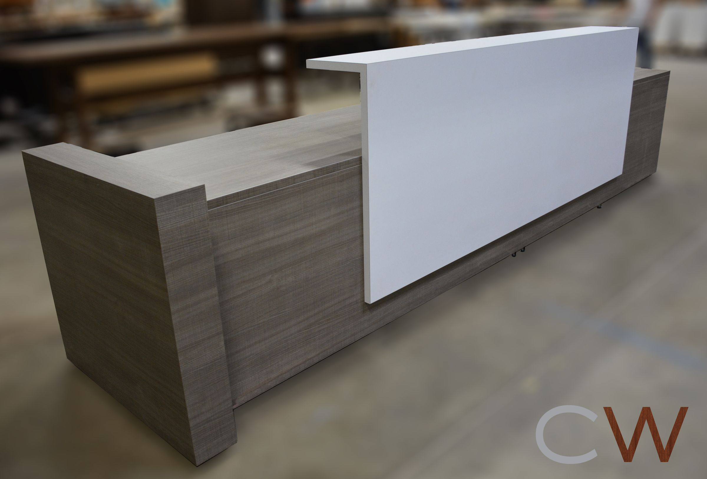 Laminate Is Budget Friendly, Durable, And Attractive This Reception Desk Is