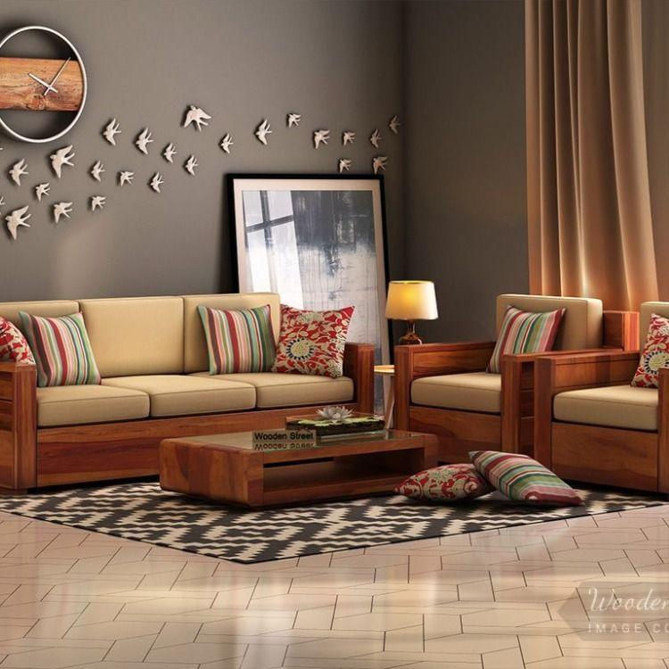 Buy Marriott Wooden Sofa Set Honey Finish Online In India Wooden Street In 2020 Wooden Sofa Set Designs Furniture Design Living Room Wooden Sofa Designs