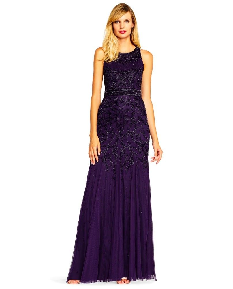 Adrianna Papell AP1E202322 Long Beaded Gown $349 | Fabulous ...