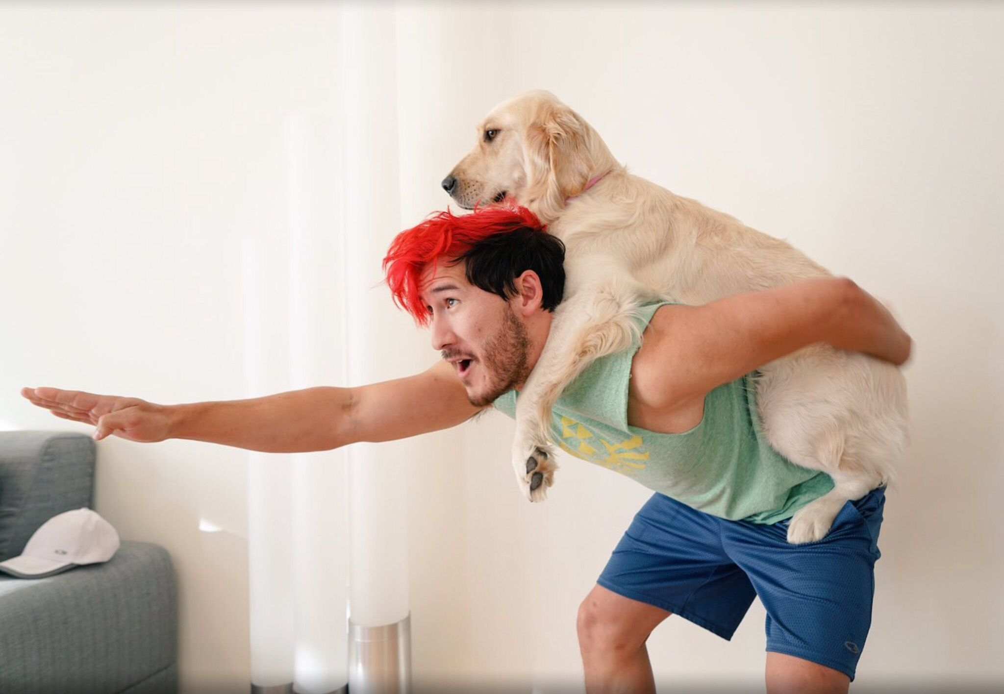This is probably how Mark actually gets his exercise