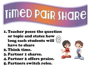 Kagan Structure Poster - Timed Pair Share   Kagan Cooperative ...