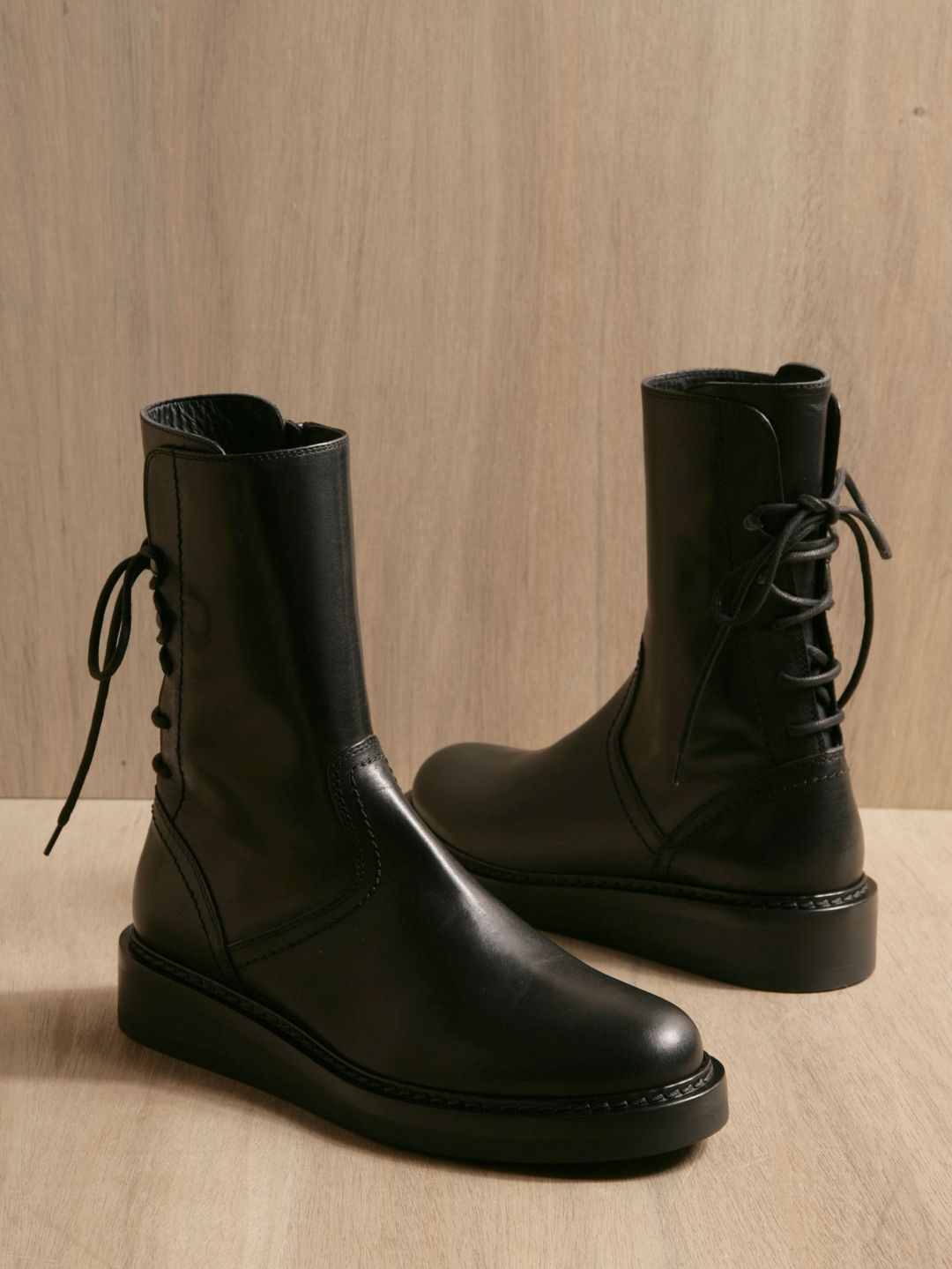 clearance pay with visa Ann Demeulemeester Vitello Nero boots cheapest price cheap online IdO9tG9