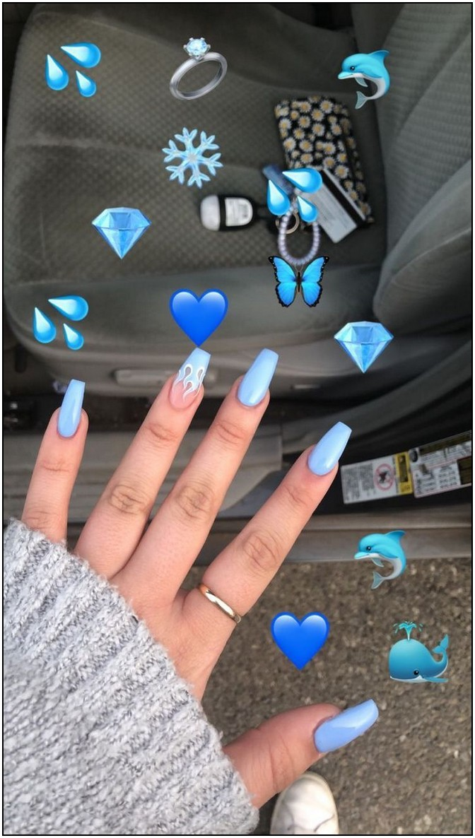 90 Most Popular Acrylic Nail Designs You Must Try Page 9 Myblogika Com Blue Acrylic Nails Best Acrylic Nails Summer Acrylic Nails