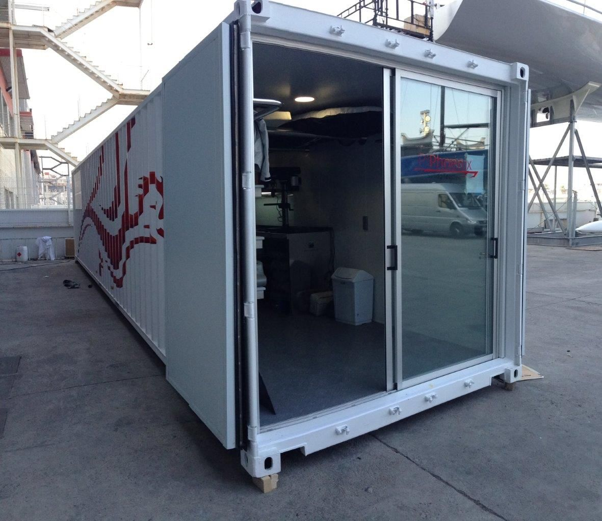 Custom Shipping Container Car Garage: Pin By QJT Company On Container Garages Workshops