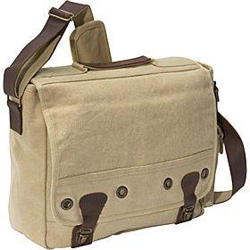 c88cd4a11615 Rothco Vintage Trailblazer Laptop Bag - Khaki - I have this and it's ...