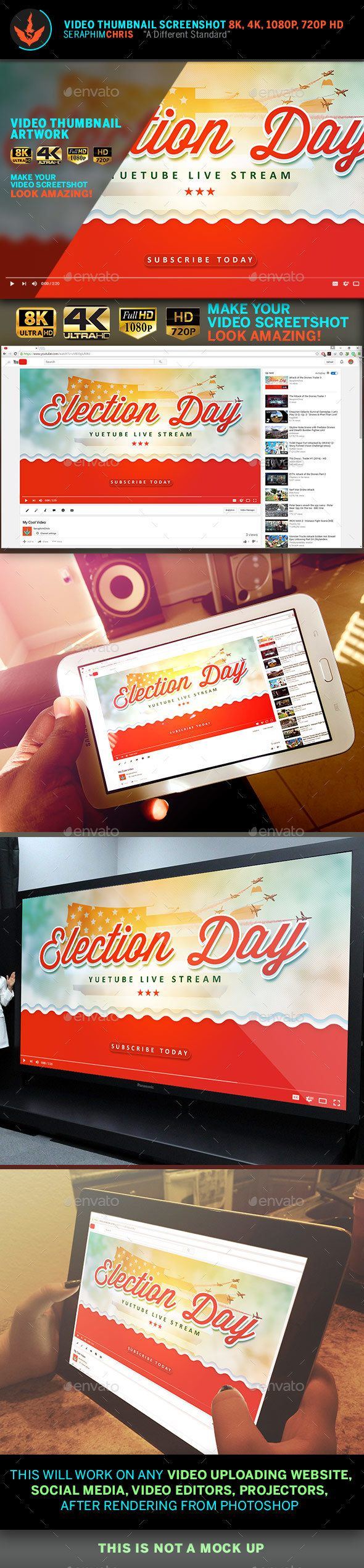 Political YouTube Video Thumbnail Screenshot Template 8