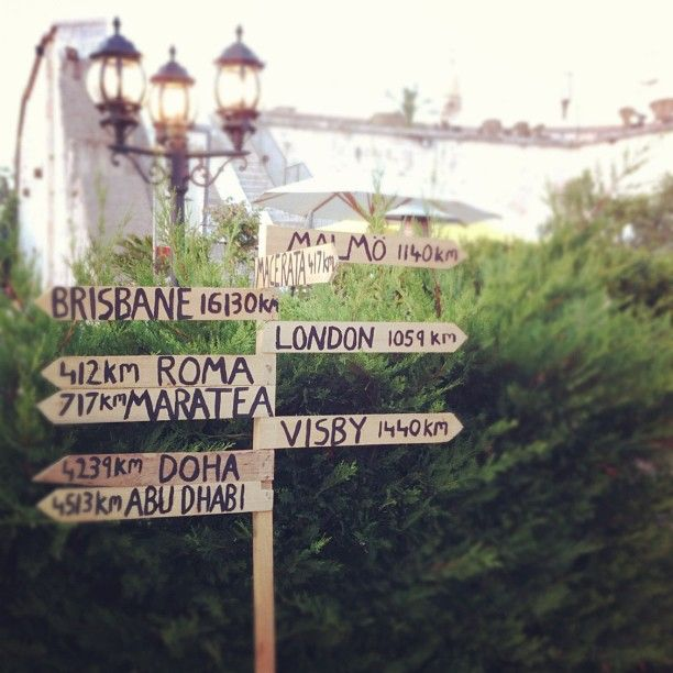DIY Road Sign For My Wedding This Was A Way To Show Our Guests