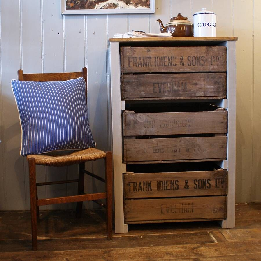 Vintage Apple Crate Storage Unit ~ Unique Idea.