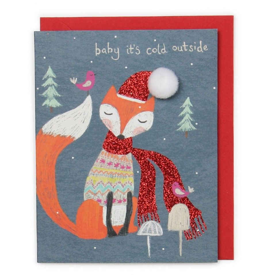 Baby it's cold outside Christmas card