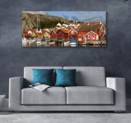 Autumn livingroom - Nordic poeple know how to do it! #nordic #walldecor #landscape #autumnseason #pumpkinseason #fall #forautumn #livingroomdecor #livingroomideas #cozy #cozyhome #canvas #canvasprint #canvasart