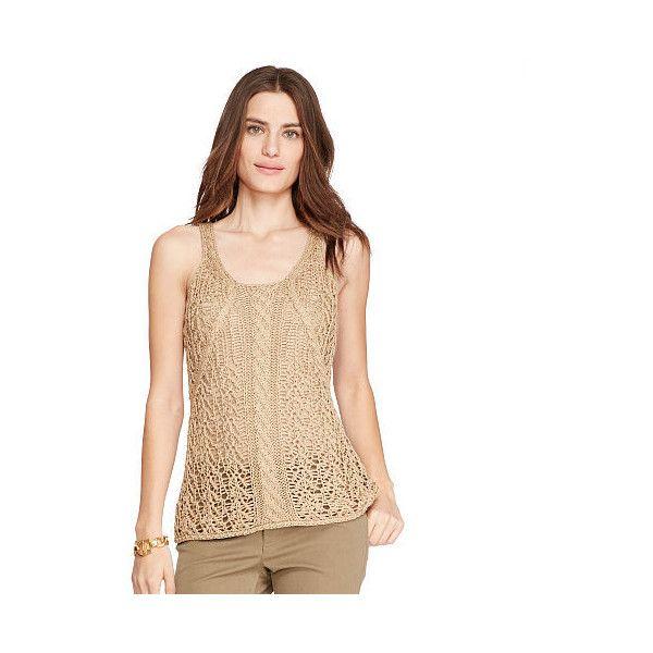 Ralph Lauren Lauren Cable Knit Sleeveless Sweater 135 Liked On