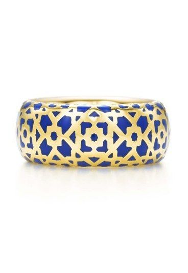 fb7768895 Paloma Picasso for Tiffany & Co Marrakesh ring in blue enamel and yellow  gold, designed by Paloma Picasso to celebrate 30 years of collaboration  with ...