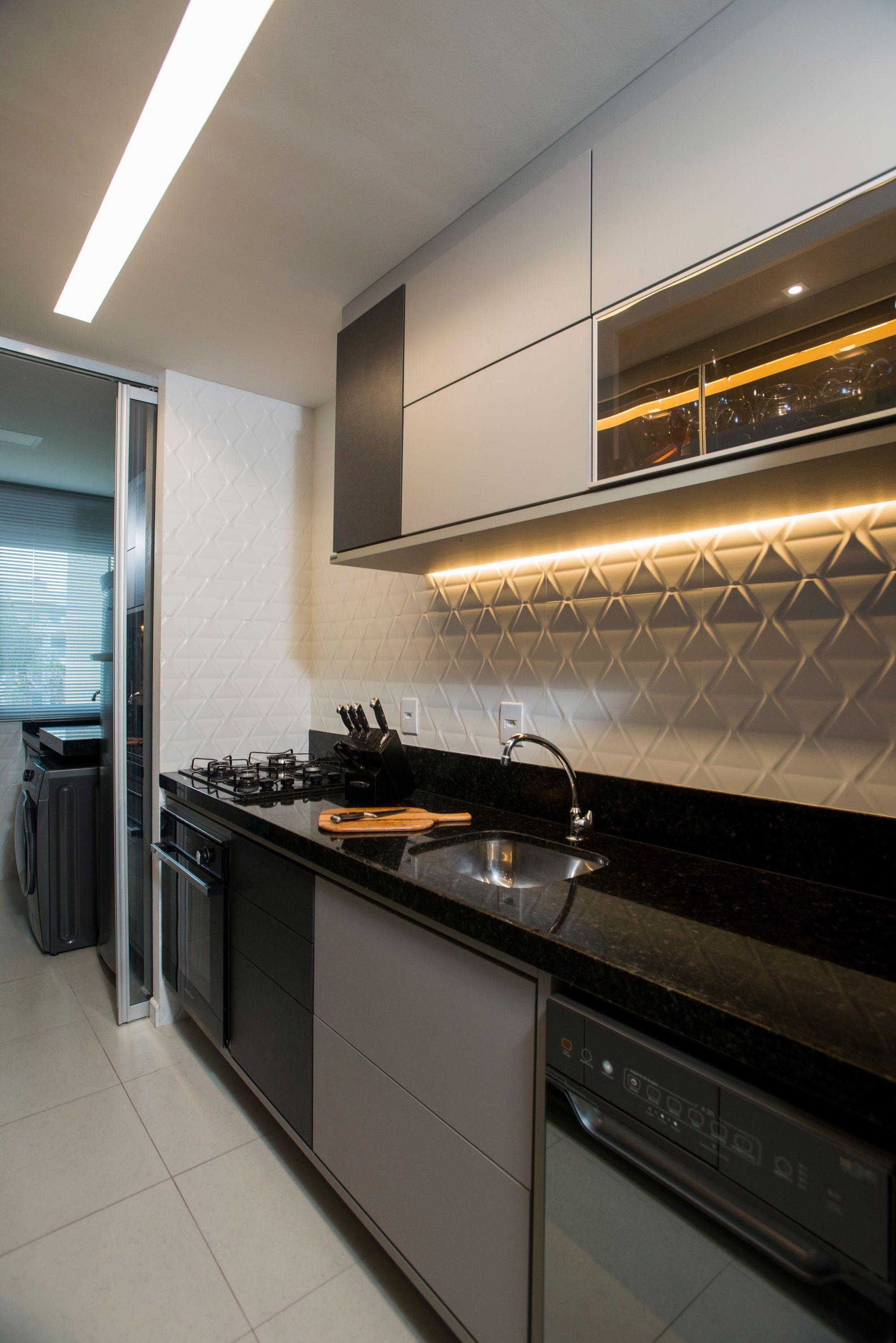 Cozinha com revestimento 3D Cartier Blanc Eliane por ...