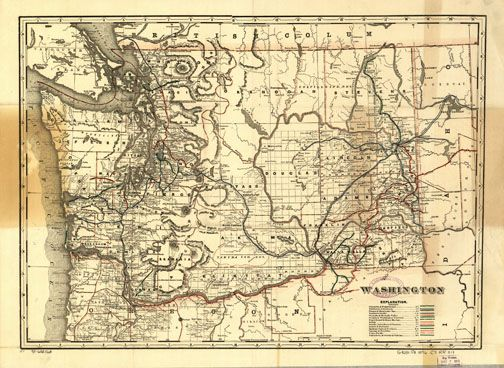 Washington State Railroad Map 1896 Whistle Stop Pinterest