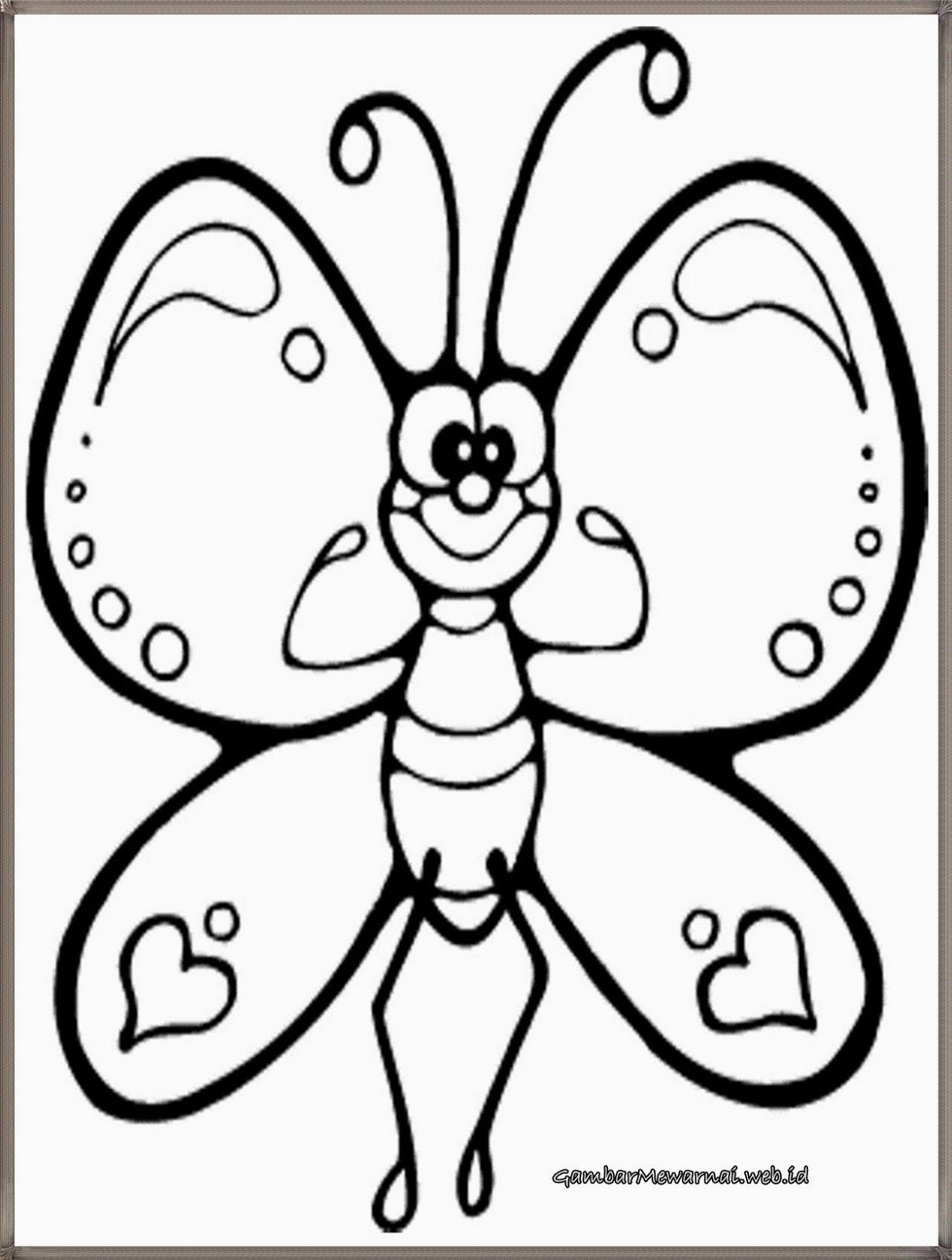 Butterfly Coloring Page Preschool And Kindergarten Butterfly