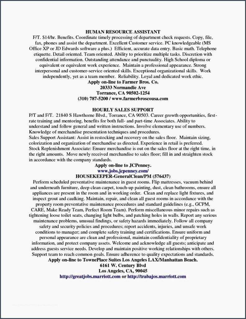 referenceentry level hr resumes