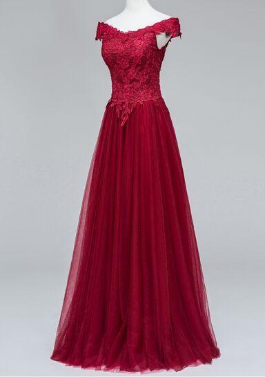 Charming Prom Dress,Elegant Tulle Prom Dresses,App… | Elegant Prom ...