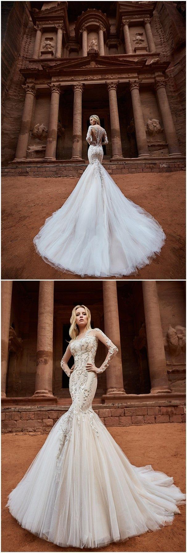 Latest oksana mukha wedding dresses collection lace wedding
