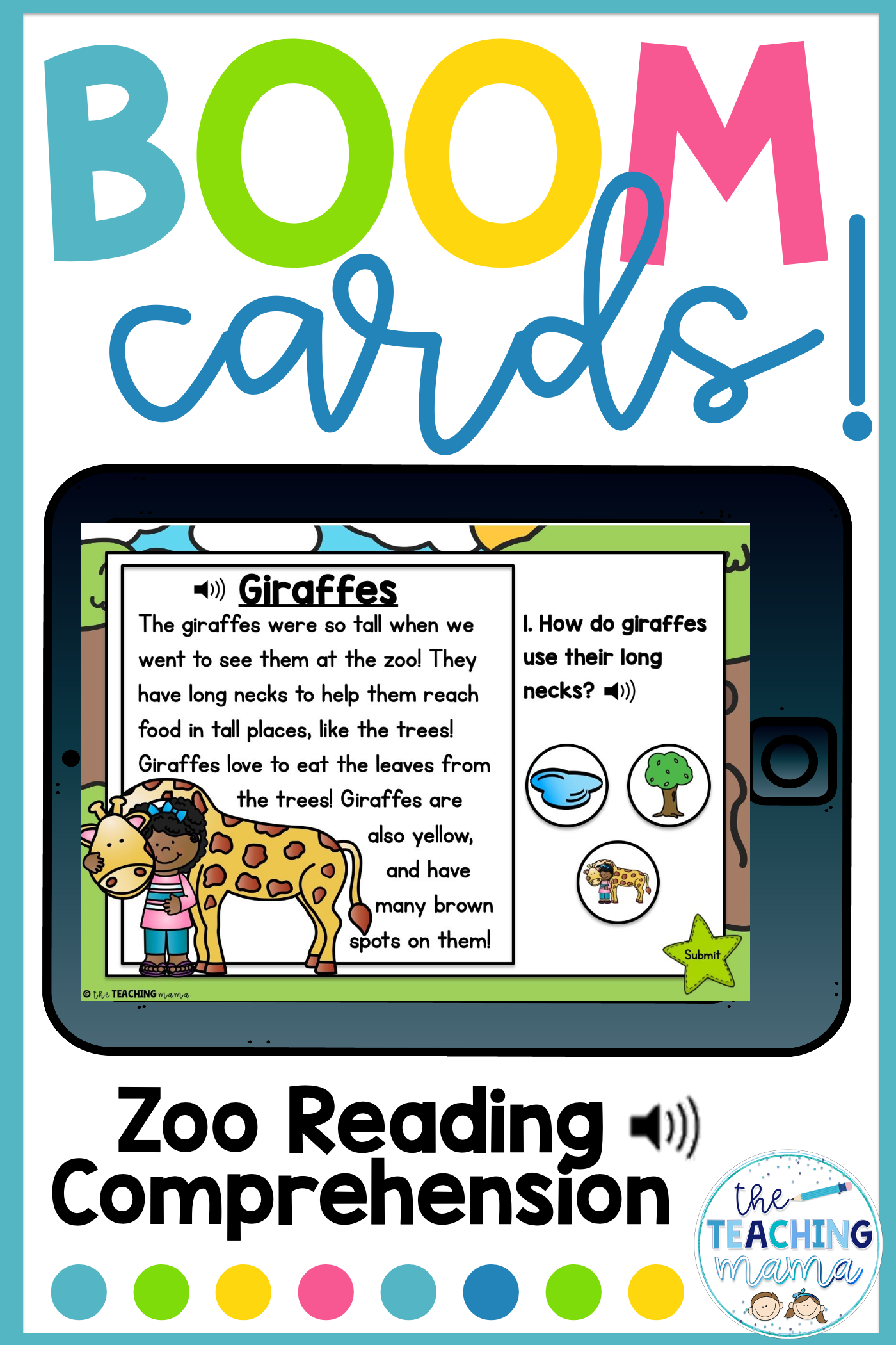 Boom Cards Zoo Reading Comprehension With Sound Reading Comprehension Task Cards Reading Comprehension Card Reading [ 2100 x 1400 Pixel ]