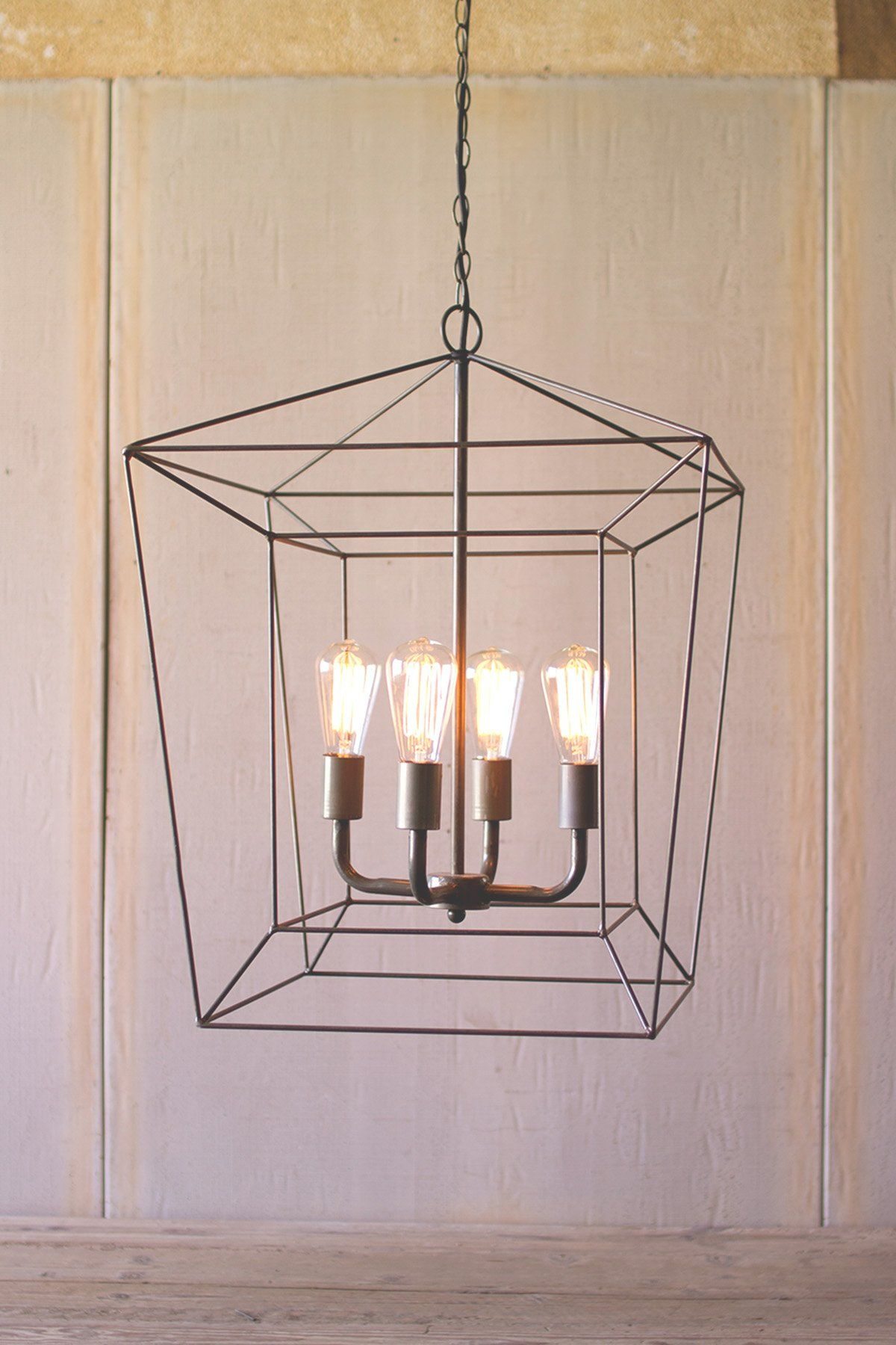 Modern farmhouse chandelier rustic lighting iron pendant light modern