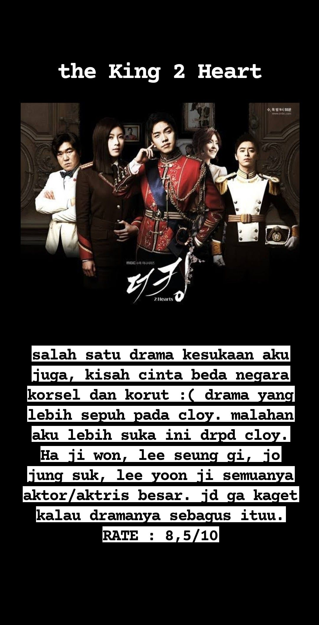 The King 2 Heart Aktor Aktris