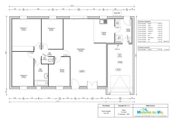 Constructeur-Maison-44-Nord-Loire-Adeval-T5Plus-100M2-Rdc | Projet