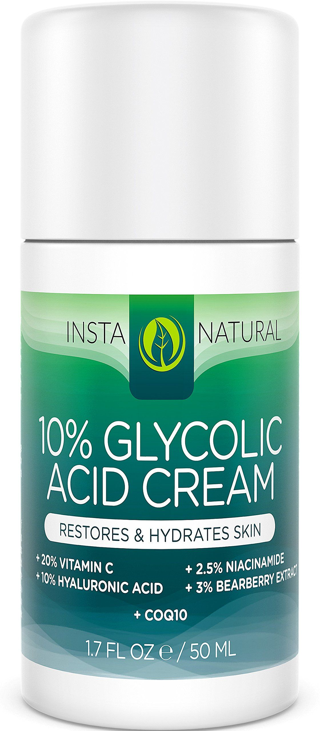 Glycolic acid cream with vitamin c hyaluronic acid