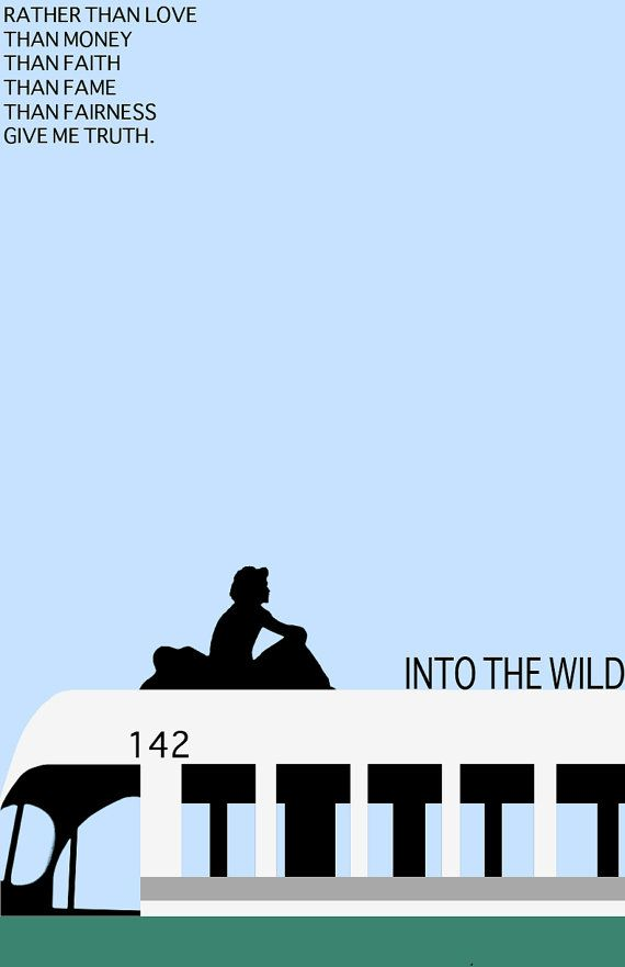 In the movie, 'Into the Wild', what is the last line that Chris writes in his book?