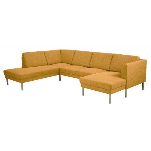 Scandes - Bogenese Hoekbank -  Lounge Links - Geel