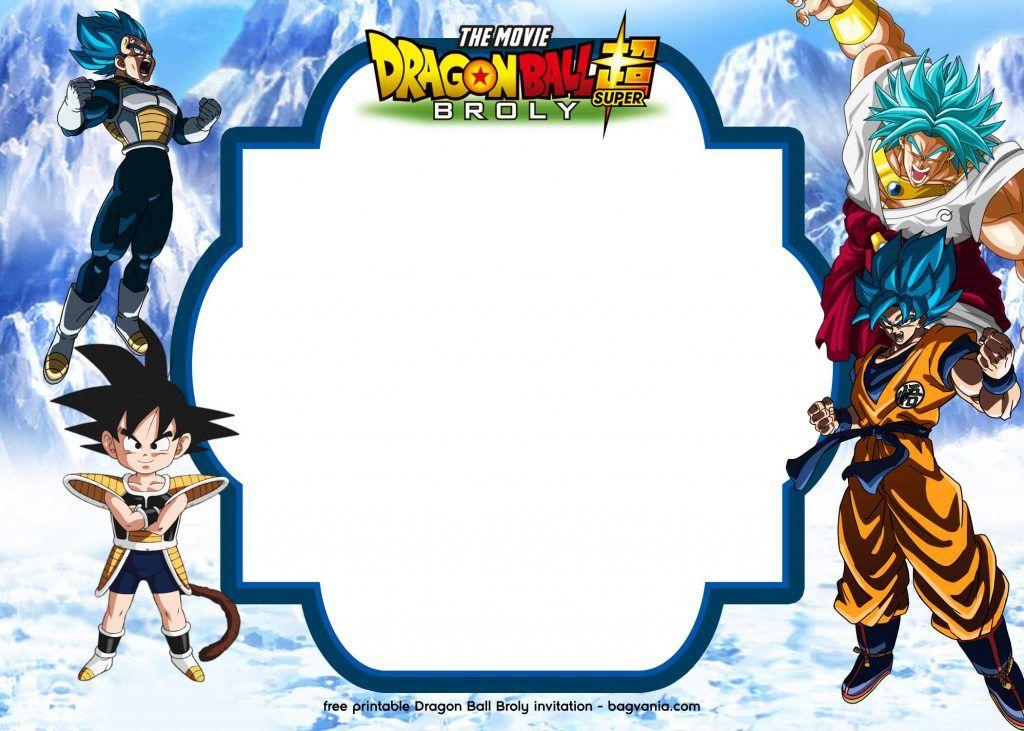 15 Free Printable Dragon Ball Super Broly Invitation Templates Dragon Ball Free Printable Birthday Invitations Dragon Ball Super