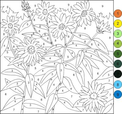 Nicole S Free Coloring Pages Color By Number Flowers Spring Coloring Page Spring Coloring Pages Free Coloring Pages Coloring Pages