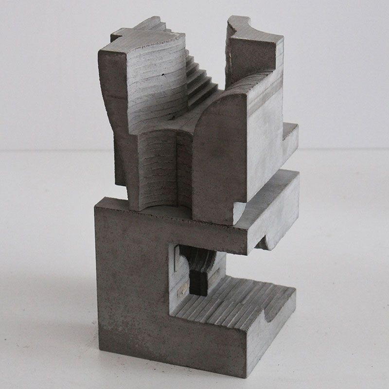 brutalist concrete sculptures by david umemoto faith is torment art and design blog models. Black Bedroom Furniture Sets. Home Design Ideas