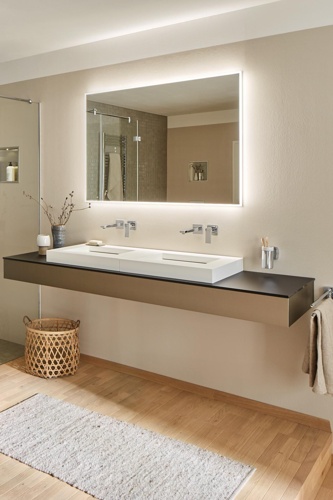Warm Colors Bathroom Ideas Hansgrohe Modern Bathroom Plan Bathroom Interior Bathroom Faucets