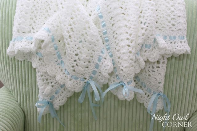 Ribbons and Ruffles Crocheted Baby Blanket – Night Owl Corner