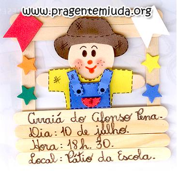 Convite ou Lembrancinha para Festa Junina