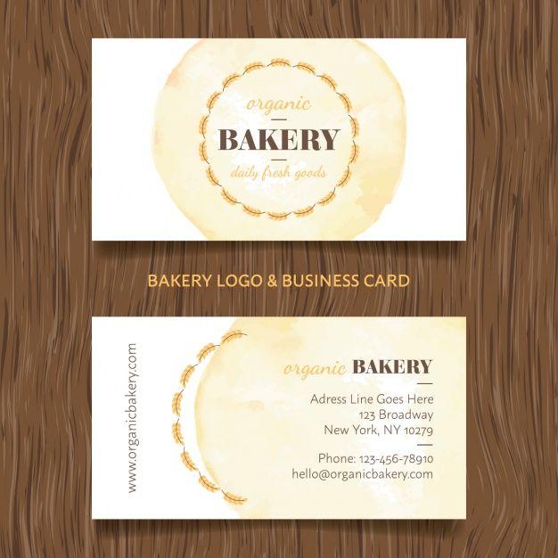 Druckbare Bäckerei Geschäfts Karten Vorlagen Kostenlos Mit