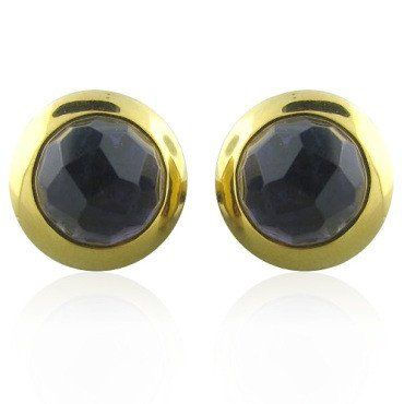 Estate Pomellato 18k Gold Iolite Earrings