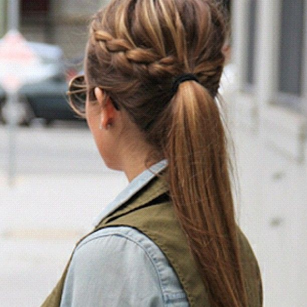 Braid Into Ponytail Love It But My Hair Isn T That Thick Long