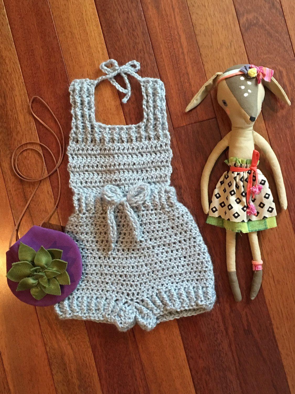 Crochet Baby Jumper Crochet Romper Newborn by OwlTellYouSew