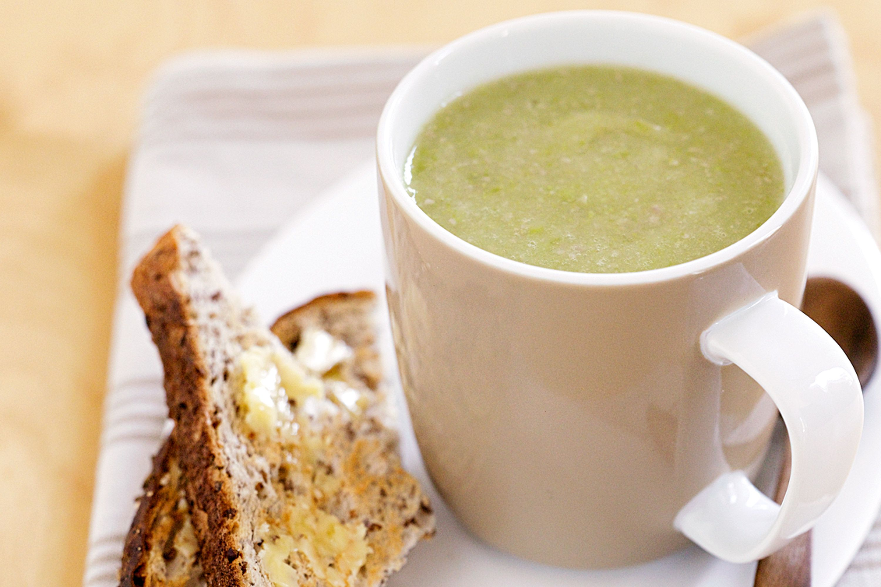 Slurp your way into winter with this speedy pea and ham soup.