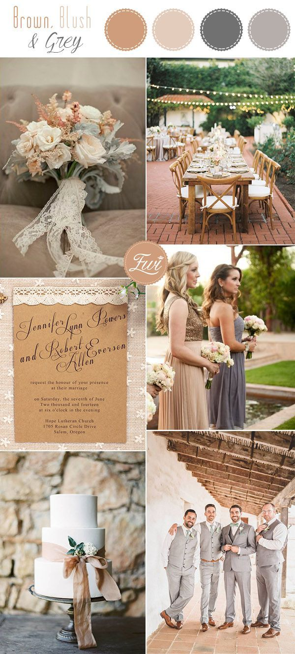 Brown Taupe And Grey Rustic Fall Wedding Colors