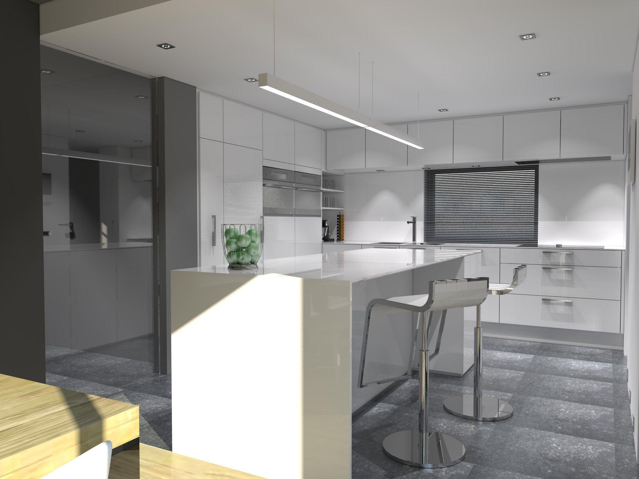 Ideas de #Decoracion de #Comedor, #Cocina, #Loft, estilo #Moderno ...