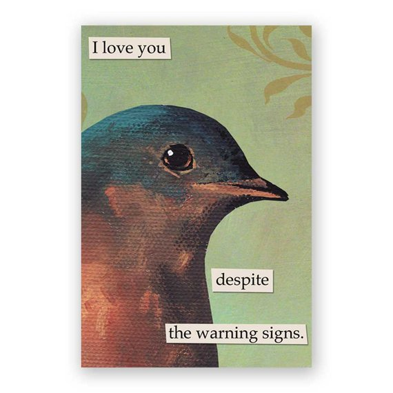 Warning Signs Magnet Bird Humor Animal Gift Stocking Stuffer Nature Love Relationshi Funny Birds Birds Fictional Characters
