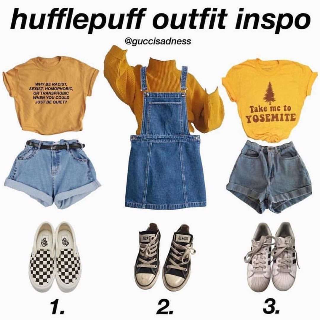 Cute Credit Guccisadness Outfitinspo Puffs Outfit Outfits Outfitideas Harrypotter Harry Trend Retro Outfits Hufflepuff Outfit Hogwarts Outfits