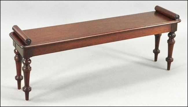 An #English Cherry Wood #Bench : Lot 144-1018 #cherrywood