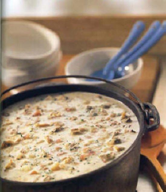 Williams Sonoma - New England Clam Chowder #chowder #rustic