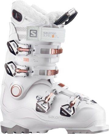 Salomon Women s X Pro 90 Custom Heat Ski Boots White Coral Mondo 23.5 3174ec47534