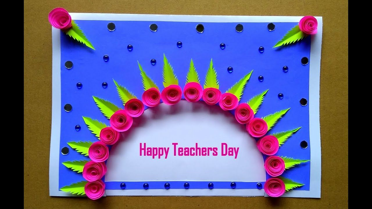 diy custom greeting card for teacher  teachers day